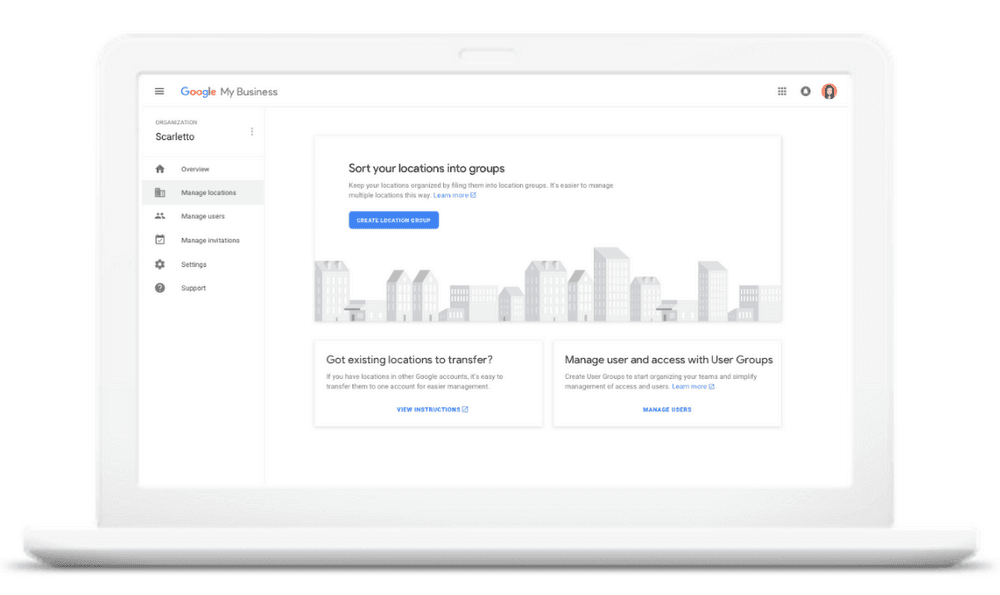 New Agency Dashboard Google My Business